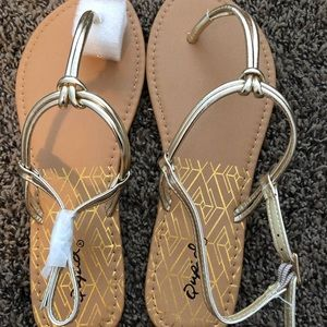 Shoes - Gold sandals. Never worn!